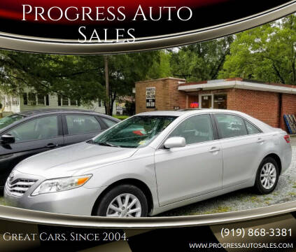 2010 Toyota Camry for sale at Progress Auto Sales in Durham NC
