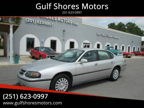 2004 Chevrolet Impala for sale at Gulf Shores Motors in Gulf Shores AL