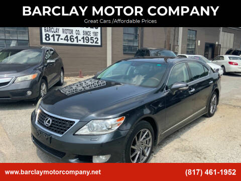 2011 Lexus LS 460 for sale at BARCLAY MOTOR COMPANY in Arlington TX