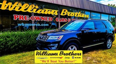 2017 Ford Explorer for sale at Williams Brothers - Pre-Owned Monroe in Monroe MI