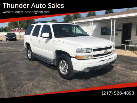 2005 Chevrolet Tahoe for sale at Thunder Auto Sales in Springfield IL