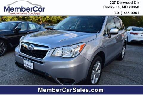 2016 Subaru Forester for sale at MemberCar in Rockville MD