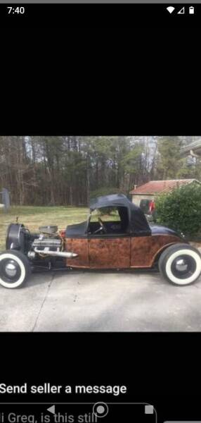 1930 Ford Cabriolet  for sale at Johns Auto Sales in Tunnel Hill GA
