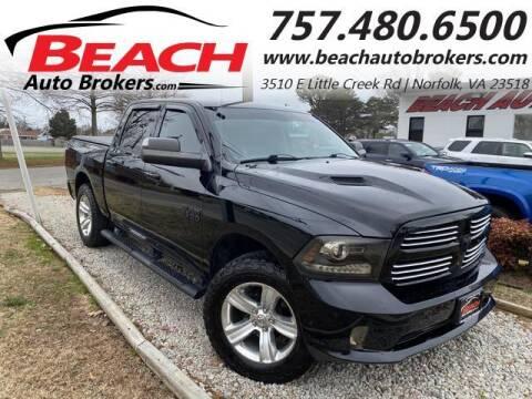 2014 RAM Ram Pickup 1500 for sale at Beach Auto Brokers in Norfolk VA