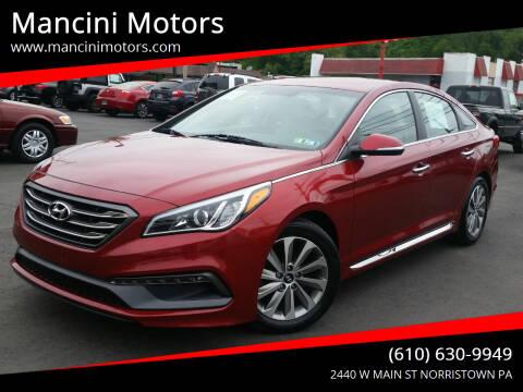 2016 Hyundai Sonata for sale at Mancini Motors in Norristown PA