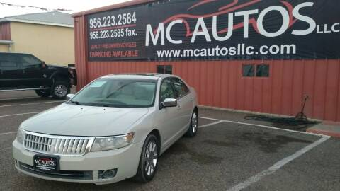 2008 Lincoln MKZ for sale at MC Autos LLC in Pharr TX