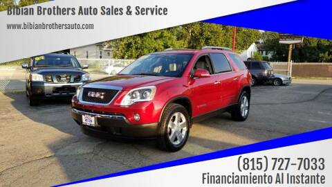 2008 GMC Acadia for sale at Bibian Brothers Auto Sales & Service in Joliet IL