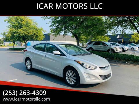 2014 Hyundai Elantra for sale at ICAR MOTORS LLC in Federal Way WA