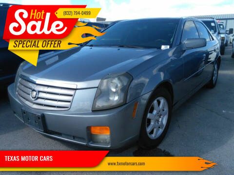 2005 Cadillac CTS for sale at TEXAS MOTOR CARS in Houston TX