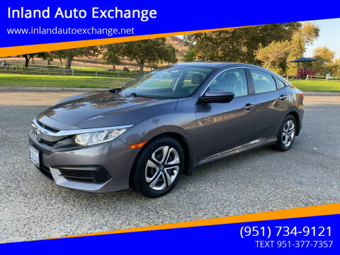 2016 Honda Civic for sale at Inland Auto Exchange in Norco CA