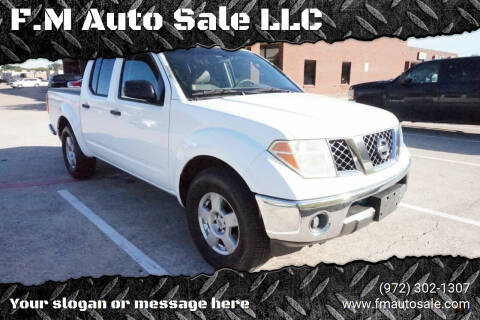 2005 Nissan Frontier for sale at F.M Auto Sale LLC in Dallas TX