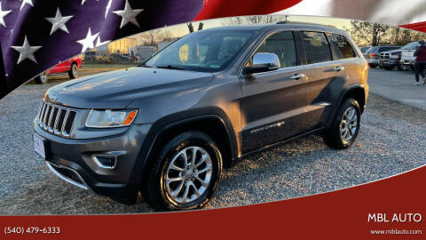 2014 Jeep Grand Cherokee for sale at MBL Auto in Fredericksburg VA
