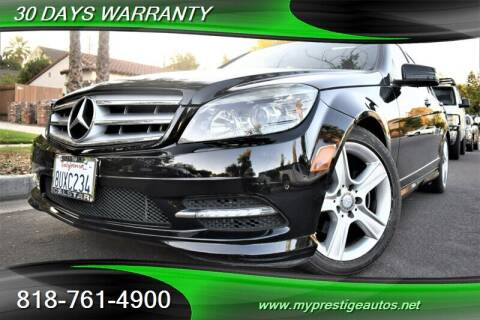 2011 Mercedes-Benz C-Class for sale at Prestige Auto Sports Inc in North Hollywood CA