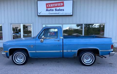 1985 Chevrolet C/K 10 Series for sale at Certified Auto Sales in Des Moines IA