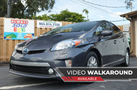 2012 Toyota Prius Plug-in Hybrid for sale at ALWAYSSOLD123 INC in Fort Lauderdale FL