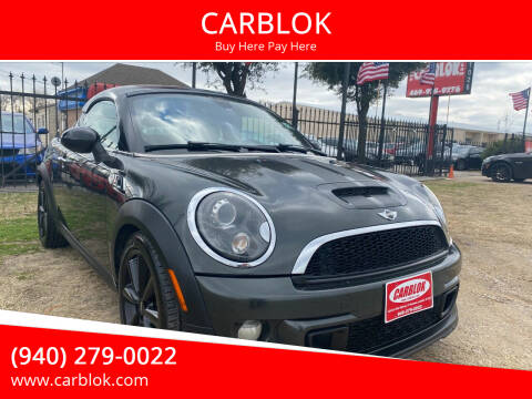 2012 MINI Cooper Coupe for sale at CARBLOK in Lewisville TX