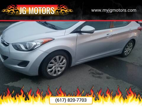2012 Hyundai Elantra for sale at JG Motors in Worcester MA