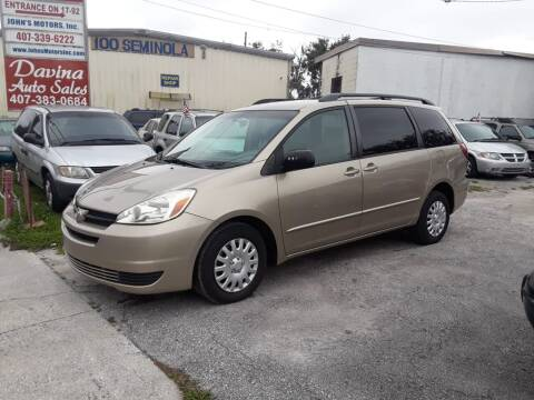 2005 Toyota Sienna for sale at DAVINA AUTO SALES in Casselberry FL