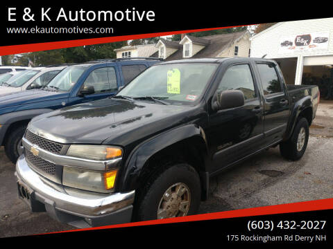 2004 Chevrolet Colorado for sale at E & K Automotive in Derry NH