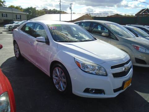 2013 Chevrolet Malibu for sale at River City Auto Sales in Cottage Hills IL