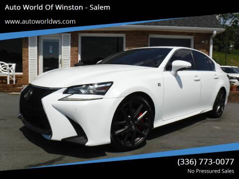 2016 Lexus GS 350 for sale at Auto World Of Winston - Salem in Winston Salem NC