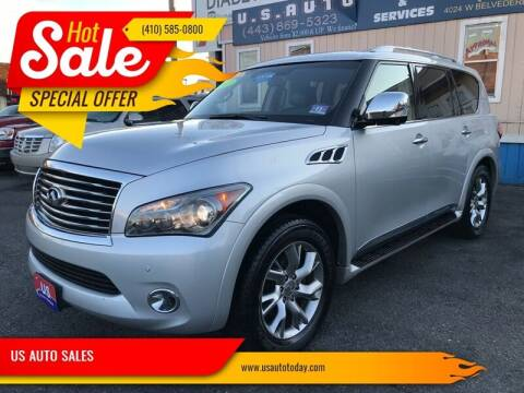 2012 Infiniti QX56 for sale at US AUTO SALES in Baltimore MD