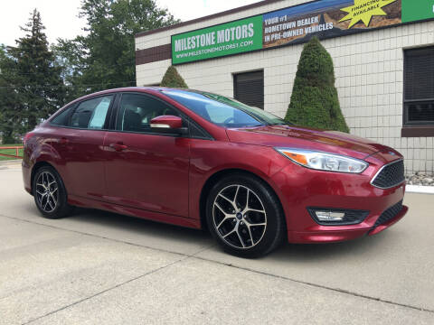 2016 Ford Focus for sale at MILESTONE MOTORS in Chesterfield MI