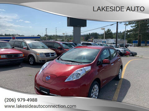 2015 Nissan LEAF for sale at Lakeside Auto in Lynnwood WA