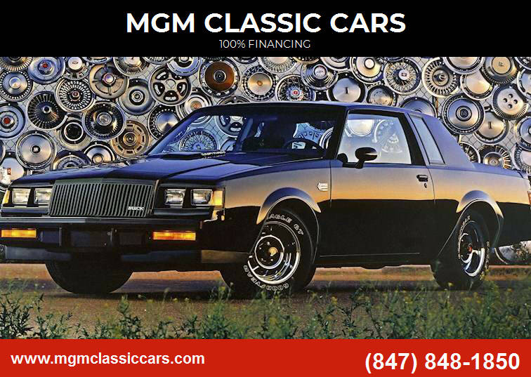 1987 Buick Grand National for sale at MGM CLASSIC CARS in Addison, IL