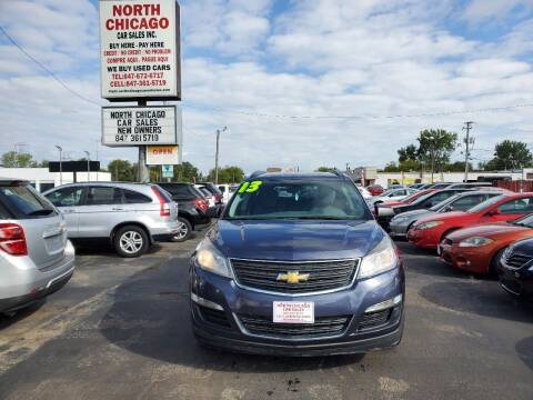 2013 Chevrolet Traverse for sale at North Chicago Car Sales Inc in Waukegan IL