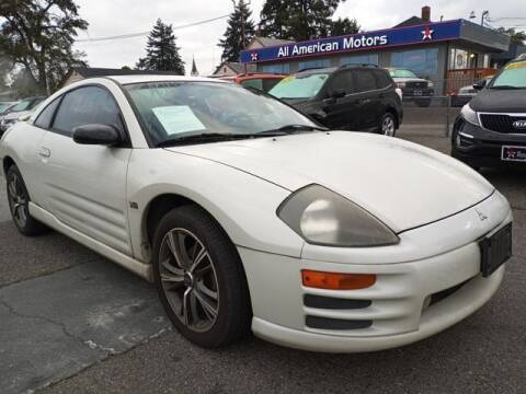2002 Mitsubishi Eclipse for sale at All American Motors in Tacoma WA