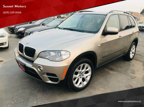 2012 BMW X5 for sale at Sunset Motors in Manteca CA
