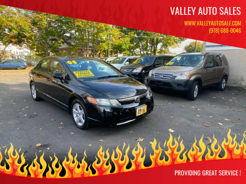 2008 Honda Civic for sale at VALLEY AUTO SALES in Methuen MA