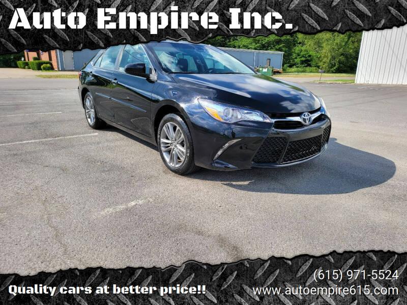 2017 Toyota Camry for sale at Auto Empire Inc. in Murfreesboro TN