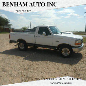 1995 Ford F-150 for sale at BENHAM AUTO INC in Lubbock TX