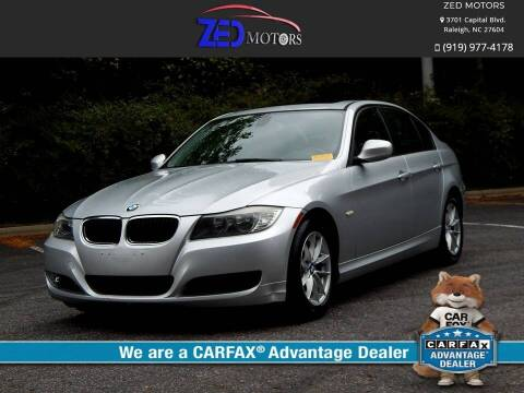 2010 BMW 3 Series for sale at Zed Motors in Raleigh NC
