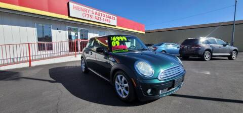 2009 MINI Cooper for sale at Henry's Autosales, LLC in Reno NV