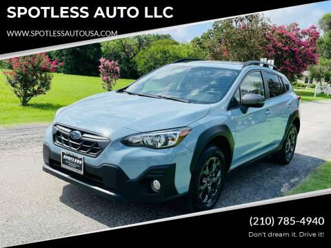 2021 Subaru Crosstrek for sale at SPOTLESS AUTO LLC in San Antonio TX