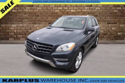 2013 Mercedes-Benz M-Class for sale at Karplus Warehouse in Pacoima CA