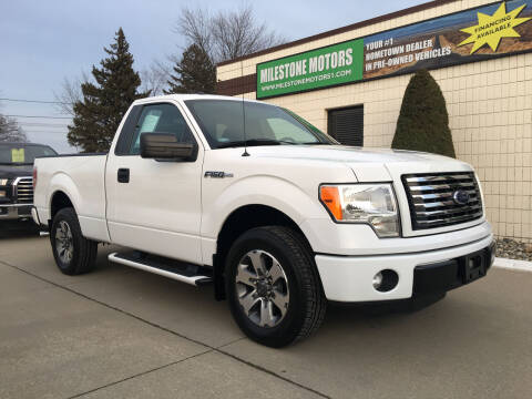 2012 Ford F-150 for sale at MILESTONE MOTORS in Chesterfield MI