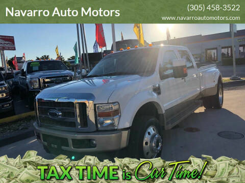 2008 Ford F-450 Super Duty for sale at Navarro Auto Motors in Hialeah FL