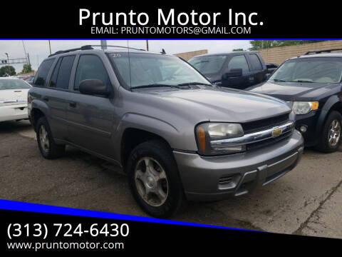 2007 Chevrolet TrailBlazer for sale at Prunto Motor Inc. in Dearborn MI