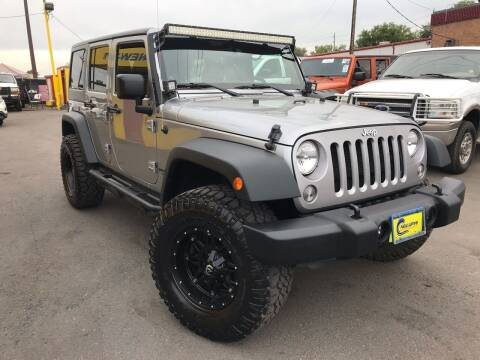 2014 Jeep Wrangler Unlimited for sale at New Wave Auto Brokers & Sales in Denver CO