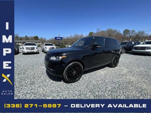 2016 Land Rover Range Rover for sale at Impex Auto Sales in Greensboro NC