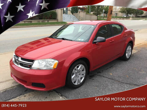 2012 Dodge Avenger for sale at Saylor Motor Company in Somerset PA