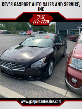 2010 Nissan Maxima for sale at KEV'S GASPORT AUTO SALES AND SERVICE, INC in Gasport NY