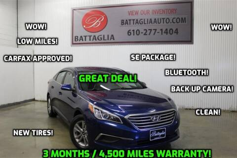 2016 Hyundai Sonata for sale at Battaglia Auto Sales in Plymouth Meeting PA