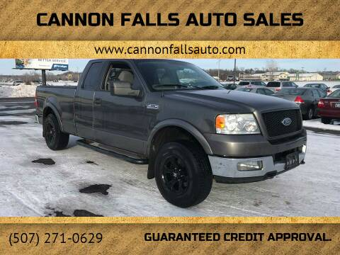 2005 Ford F-150 for sale at Cannon Falls Auto Sales in Cannon Falls MN