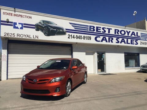 2013 Toyota Corolla for sale at Best Royal Car Sales in Dallas TX