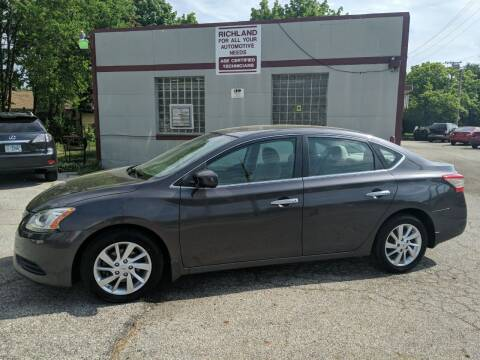 2013 Nissan Sentra for sale at Richland Motors in Cleveland OH